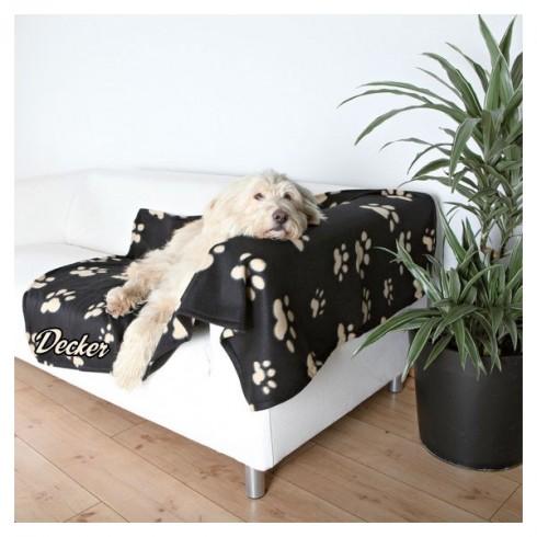 Couverture fibre polaire pour chien personnalisee - Couverture pour petit chien ...
