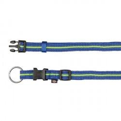 Collier pour chien réfléchissant bleu et vert